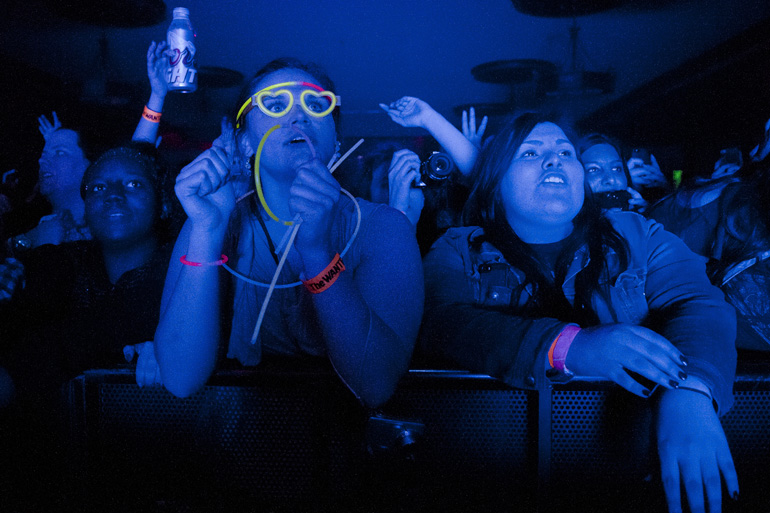 Fans cheer during The Wanted\'s performance in the Egyptian Room at Old National Centre, Thursday, May 15, 2014.