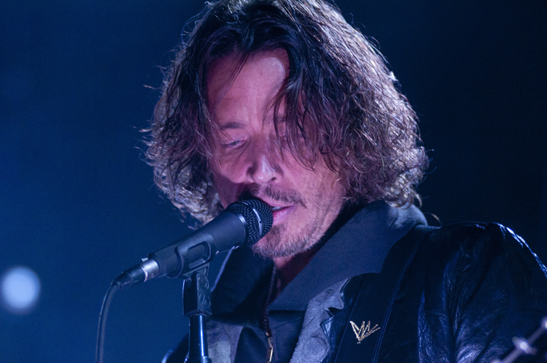 Soundgarden vocalist Chris Cornell performs during May Day at Klipsch Music Center, Saturday, May 11, 2013. Soundgarden performed in Indianapolis for the first time since 1996. (Alex Farris / For The Star)